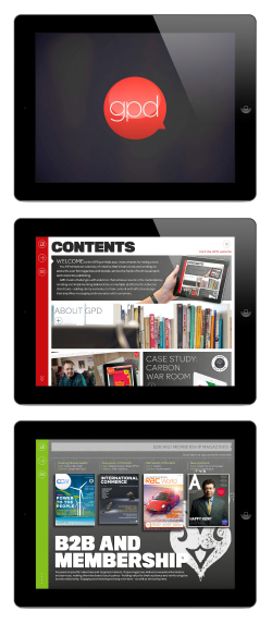 The GPD Portfolio tablet App. Follow the links here to the GPD Portfolio tablet app where you can find more examples of work and further info on GPD's services.